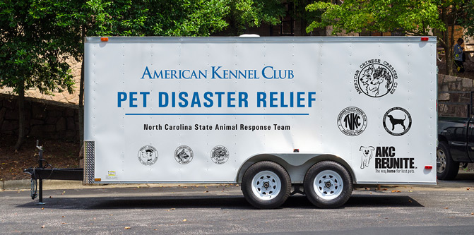 AKC Pet Disaster Relief Trailers
