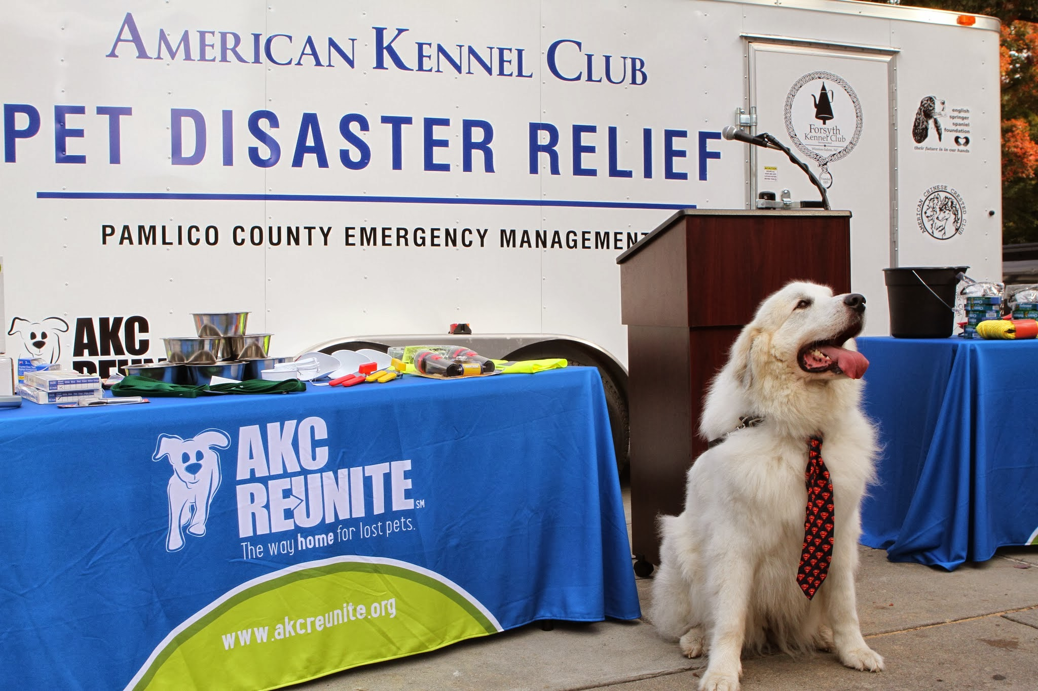 AKC Pet Disaster Relief Trailer with Vern