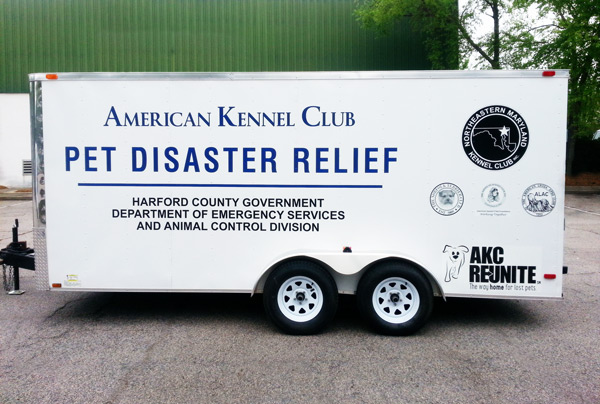 AKC Pet Disaster Relief Donates Trailer to Harford Maryland