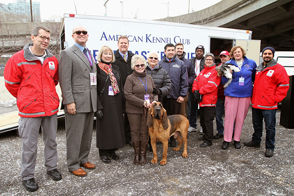 Group Photo in NYC for AKC Pet Disaster Relief Trailer